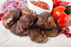 Grilled kebab meat Stock Image