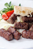 Grilled kebab with pita bread Royalty Free Stock Photography