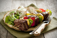 Grilled Kebabs Stock Images
