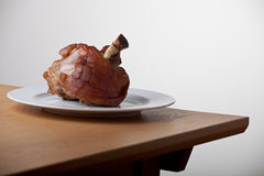 Grilled knuckle of pork Royalty Free Stock Images