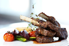 Grilled lamb Royalty Free Stock Images