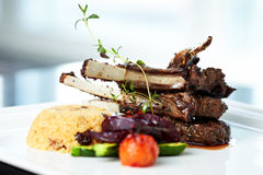 Grilled lamb Royalty Free Stock Photo