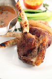 Grilled lamb chop Royalty Free Stock Photography