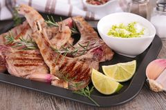 Grilled lamb chop Stock Photography
