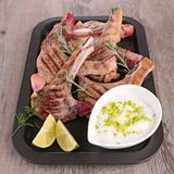 Grilled lamb chop Stock Image