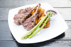 Grilled lamb chop steak Stock Photography
