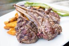 Grilled lamb chop steak Royalty Free Stock Photo