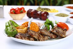 Grilled Lamb Chops Royalty Free Stock Photos