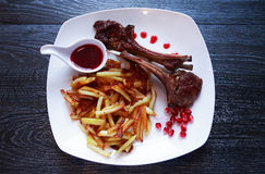 Grilled Lamb Chops Stock Photography