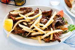 Grilled lamb chops Stock Images