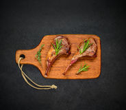 Grilled Lamb Chops Royalty Free Stock Photography