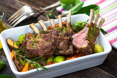 Grilled Lamb Chops Stock Image