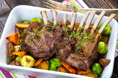 Grilled Lamb Chops Royalty Free Stock Images