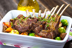 Grilled Lamb Chops Stock Photos