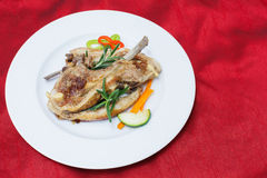 Grilled lamb cutlets Royalty Free Stock Photos