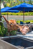 Grilled lamb for dining Stock Photo