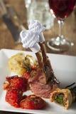 Grilled lamb loin Stock Photos