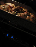 Grilled lamb in oven Royalty Free Stock Photos