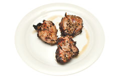 Grilled lamb pieces Royalty Free Stock Photo