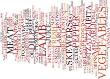 Grilled Lamb Shashliki Text Background  Word Cloud Concept Stock Photos