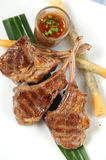 Grilled lamb steak Royalty Free Stock Image