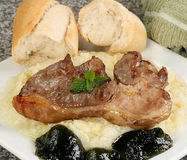 Grilled lamb steak stock photos