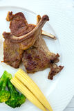 Grilled Lamb steak Stock Photo