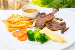 Grilled Lamb steak Royalty Free Stock Images