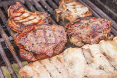 Grilled lamb steak Royalty Free Stock Photography
