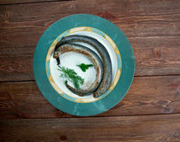 Grilled lamprey Royalty Free Stock Image