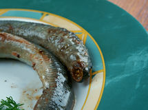 Grilled lamprey Stock Image