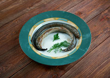 Grilled lamprey Stock Photo