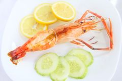 Grilled langoustine prawns Royalty Free Stock Photography
