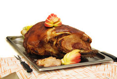 Grilled leg of pig Royalty Free Stock Images