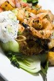 Grilled lemon grass shrimp thai food Stock Photos