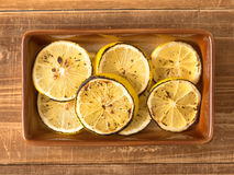 Grilled lemons Royalty Free Stock Images