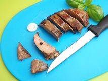 Grilled liver Royalty Free Stock Photos