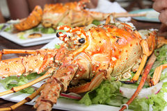 Grilled lobster in Cuba Royalty Free Stock Photos