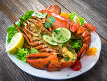 Grilled lobster Royalty Free Stock Photos