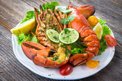 Grilled lobster Royalty Free Stock Photography
