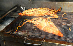 Grilled lobster. Sold in the night market Hua Hin District,Thailand Royalty Free Stock Photo