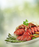 Grilled Lobster Tail Royalty Free Stock Photos