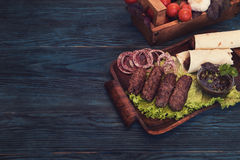 Grilled lula kebab Stock Image