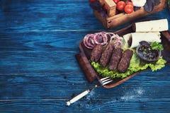 Grilled lula kebab Stock Photo