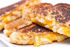 Grilled macaroni and cheese sandwich Royalty Free Stock Images