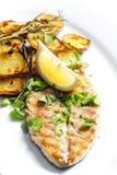 Grilled mackerel Stock Photo