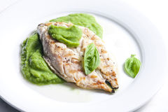 Grilled mackerel Stock Photography