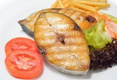 Grilled mackerel Royalty Free Stock Image