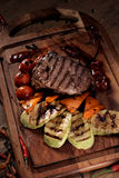 Grilled marble beef steak Royalty Free Stock Image