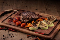 Grilled marble beef steak Stock Photography